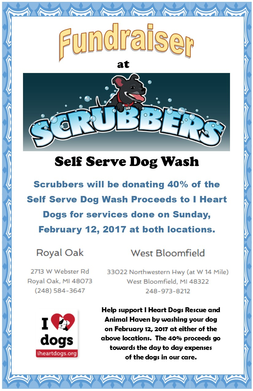 Scrubbers self serve dog wash fundraiser i heart dogs rescue and details solutioingenieria Image collections