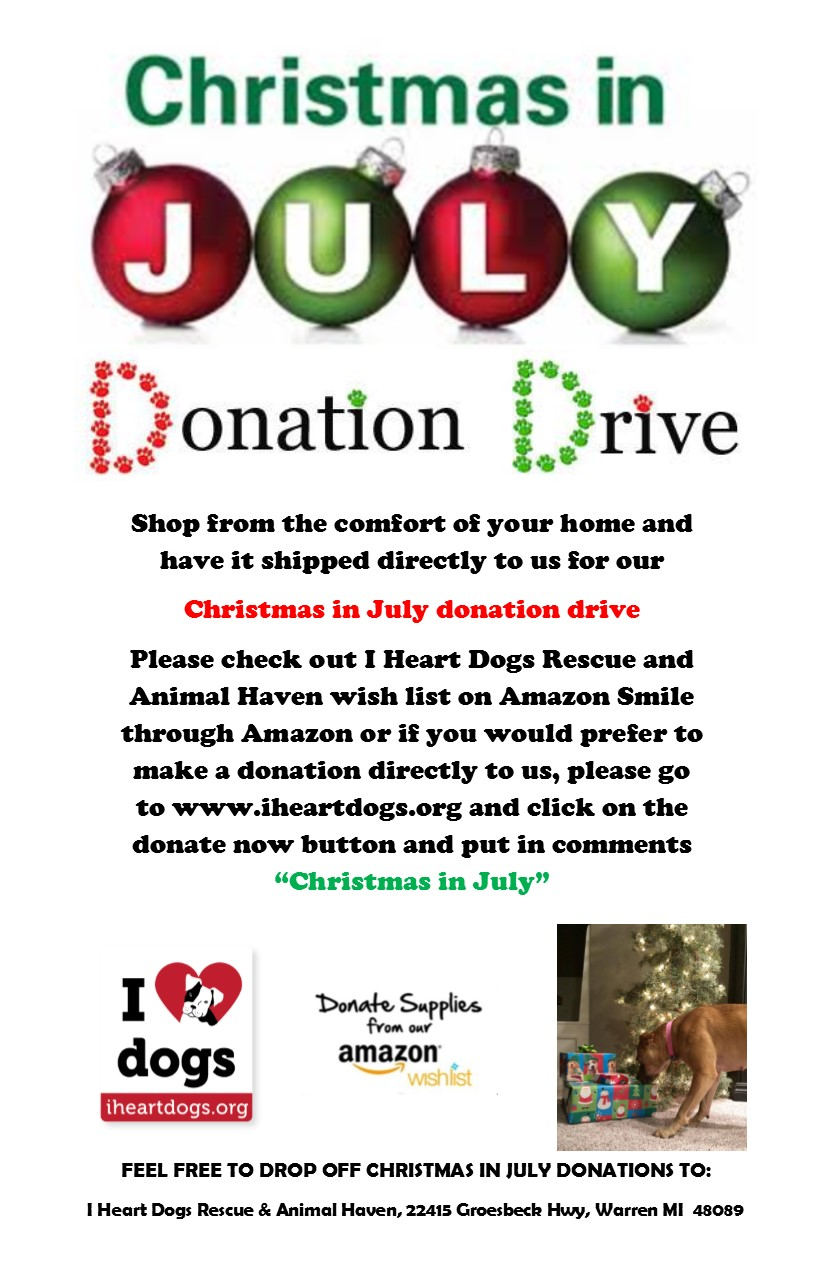 Christmas in July Flyer JPEG I Heart Dogs Rescue and Animal Haven